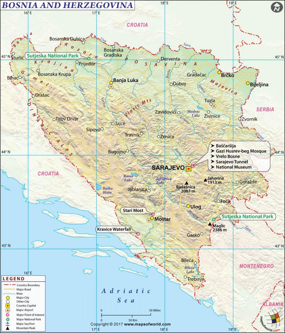 Terkep Bosznia Hercegovina Bosznia Hercegovina Terkepe Del