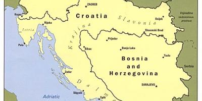 Bosznia Hercegovina Bosznia Bosznia Hercegovina Map A